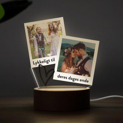 LED-lys i Polaroid-design