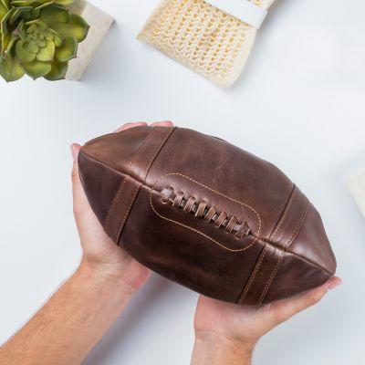 Amerikansk fodbold taske i læder