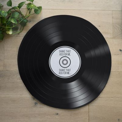 Personaliseret Vinylplade bademåtte