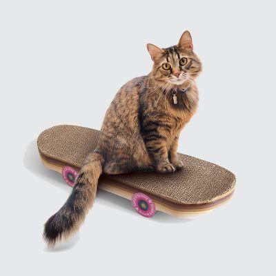 Skateboard kradsetræ til katte