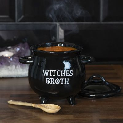 Mini suppe-heksekedel med ske