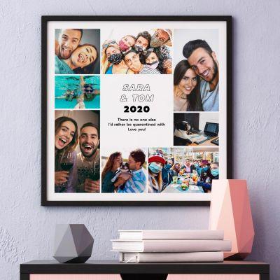 Plakat med 8 billeder og tekst