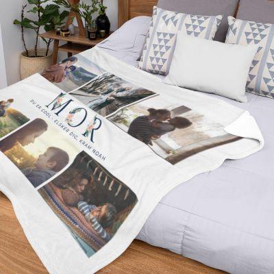 Mor-tæppe med 6 billeder og tekst