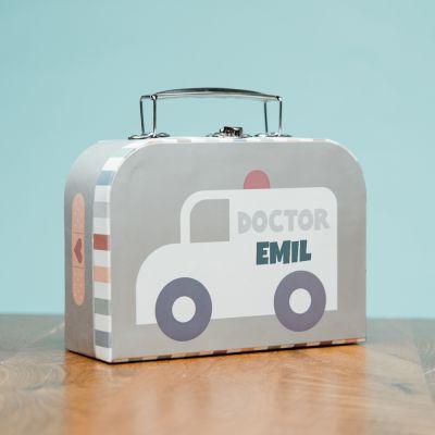 Mini-lægekuffert med tekst