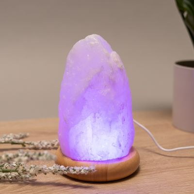 Himalaya salt lampe med USB