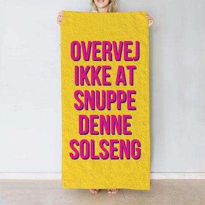 Farverigt håndklæde med 5 linjer