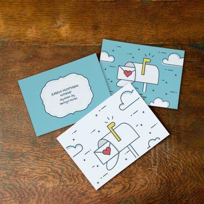 Kærlighedspost med kort og tekst