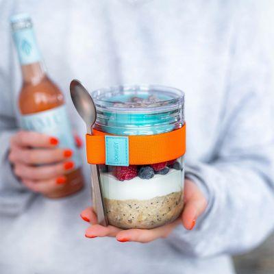 Frokost- eller opbevaringsglas med ekstra skål