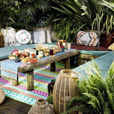 Farverige tæpper til indendørs og udendørs