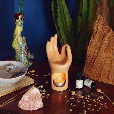 Om Yoga-hånd duftlampe
