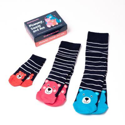 Mor, far og jeg sokker i sæt af 3 par