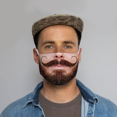 Ansigtsmaske Overskæg