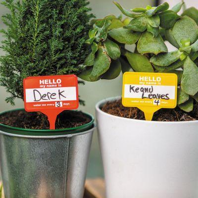 Navneskilte til planter, sæt på 12