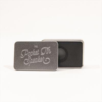 Mini-højtaler i en blikdåse