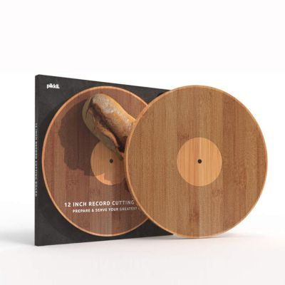 Skærebræt i vinylplade-udseende