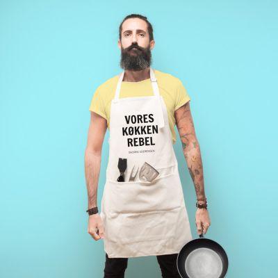 Personaliseret forklæde Vores køkken rebel