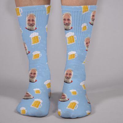 Mange ansigter sokker til ølelskere
