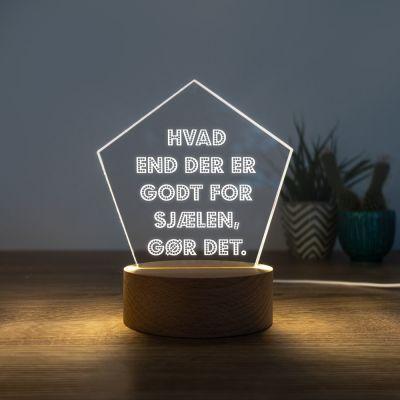 LED-lampe med 5 linjer