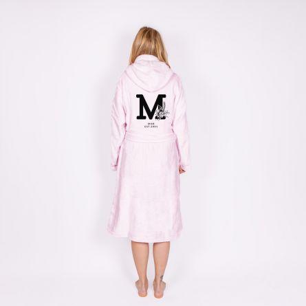 Badekåbe monogram med tekst