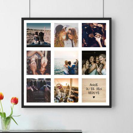Personaliseret Plakat med 8 Billeder og Tekst
