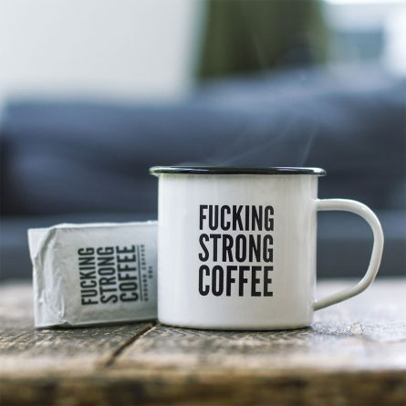 F*cking Strong Coffee - Sæt med krus