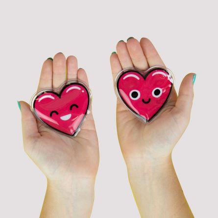 Håndvarmere i hjerteform