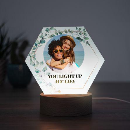 LED-lampe - Blade med billede og tekst