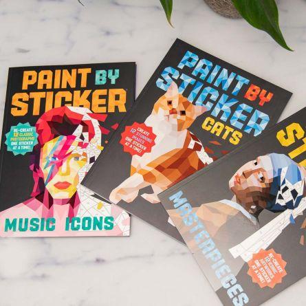 Paint By Sticker farvelægning med klistermærker