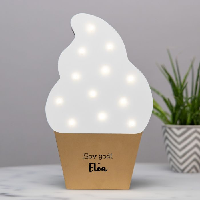Is som LED-Lampe med tekst