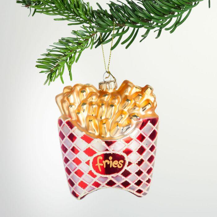 Pommes Frites juletræsudsmykning