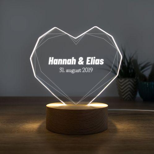 LED-lampe som hjerte