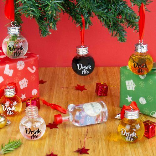 Juletræskugler med likør