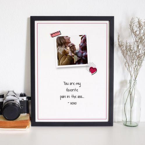 Personaliseret plakat med foto og citat