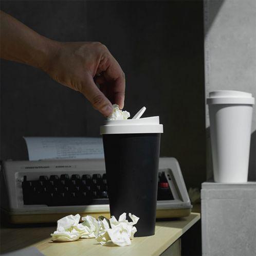 Mini skraldespand i kaffekrus design