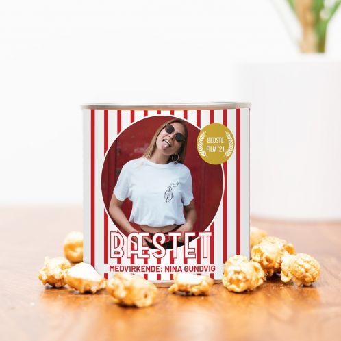 Gyldne Popcorn med Billede og Tekst