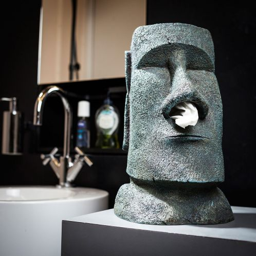 Moai lommetørklæde holder
