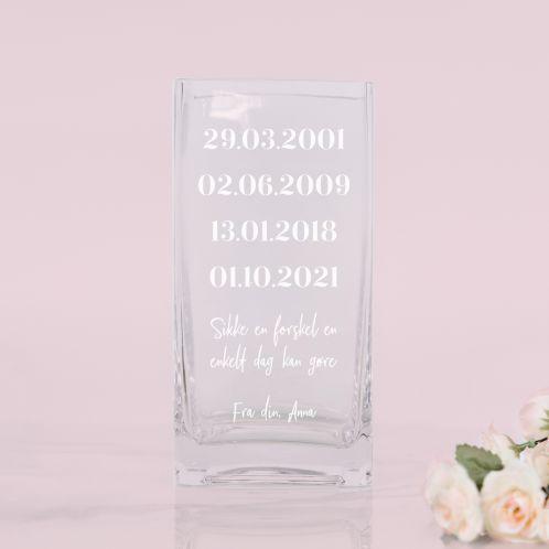 Vase med vigtige datoer