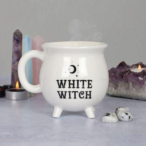Heksekedelkop i hvid