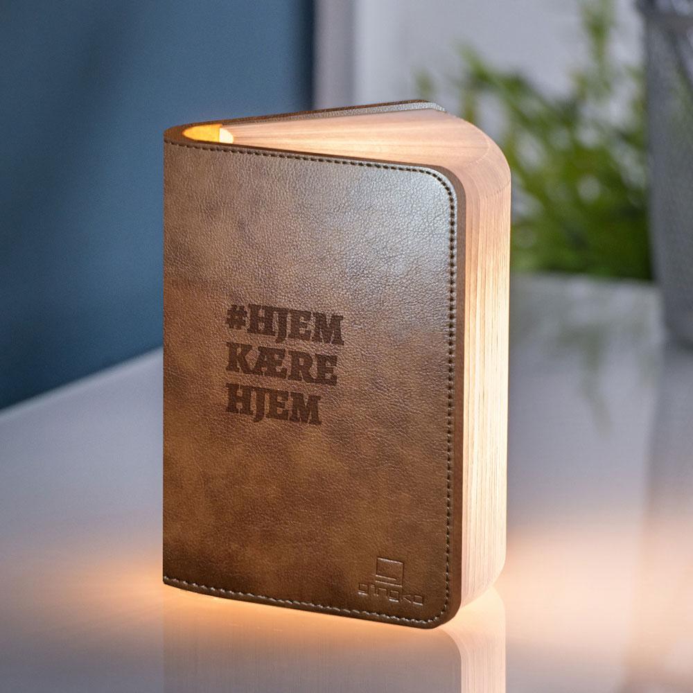 Gave til mor Personlig boglampe med tekst
