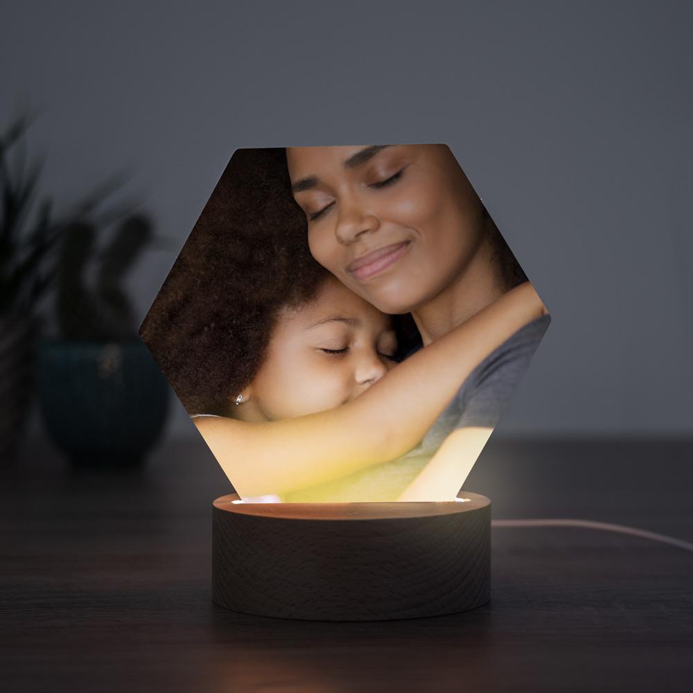Gave til mor LED-lampe med foto