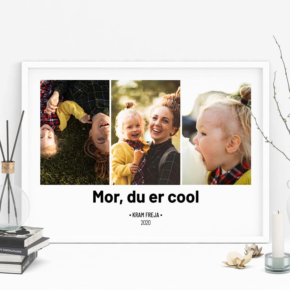 Gave til mor Plakat med 3 billeder og tekst