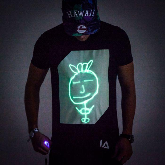 Interaktiv Selvlysende T-Shirt