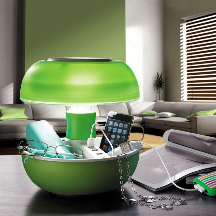JOYO bordlampe med USB-porte - Grøn