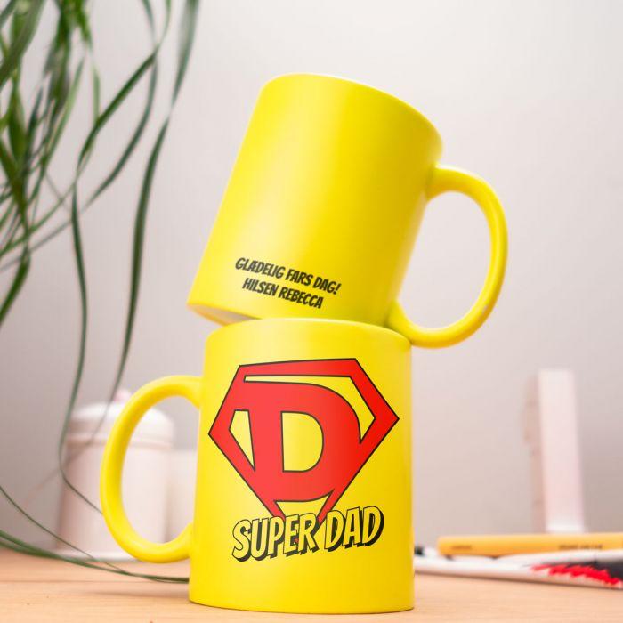 Personaliseret neonkrus Super Dad