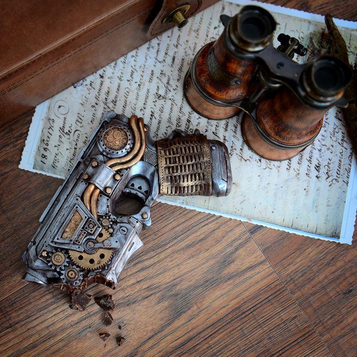 Steampunk Pistol i chokolade
