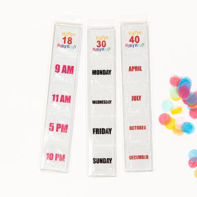 Fødselsdagskondomer 18. + 30. + 40. års fødselsdag