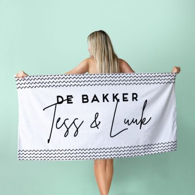 Personaliseret håndklæde med forskellige baggrunde