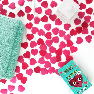 Hjerteformet badekonfetti