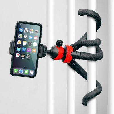 Blæksprutte smartphone- og kamerastativ