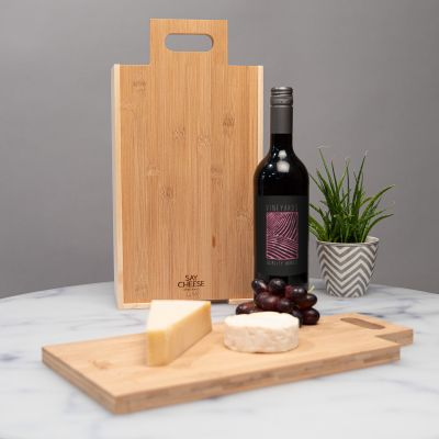 Gaveæske til vin og ost